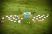 Yurt camp in Mongolia — Stock Photo