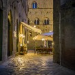 Night scene in Volterra — Stock Photo