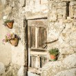 Door with wall in tuscany — Stock Photo