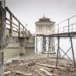 Dilapidated buildings Lake Bodensee in Germany — Foto Stock