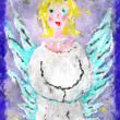 Illustration holy angel with wings — Stock Photo