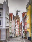 Narrow street Landsberg — Stock Photo