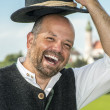 Laughing traditional bavarian man — Stock Photo