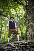Traditional standing Bavarian man — Stock Photo
