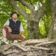 Stock Photo: Sitting traditional Bavarian man