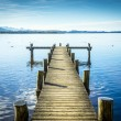 Jetty at the Chiemsee — Stok fotoğraf