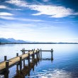 Jetty at the Chiemsee — Stock Photo