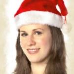 Water print Santa Woman — Stock Photo