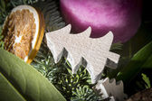 Detail shot of advent wreath — Stock Photo