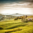 Evening mood landscape Tuscany — Stock Photo