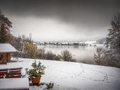Lake Schliersee in winter — Foto de Stock