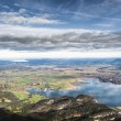Stock Photo: View from Herzogstand to Kochelsee