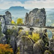 Bridge named Bastei in Saxon Switzerland — Stock Photo