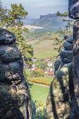Landscape Saxon Switzerland — Stock Photo