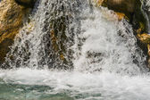 Waterfall in alps — Stock Photo