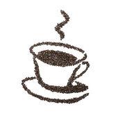 Kopje koffie bean — Stockfoto