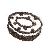 Coffee Bean Donut — Stockfoto