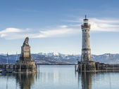 Port entrance lake constance — Stock Photo