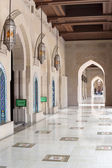 Collonade Grand Sultan Qaboos Mosque — Stock Photo