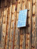 太陽電池パネルの納屋 — ストック写真