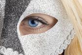 Closeup blue eye — Stock Photo