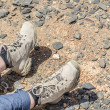 Tramping boots on Jebel Shams — Stock Photo #46421007