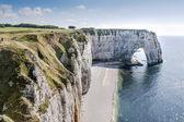 Alabaster coast Normandy — Stock Photo