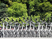 Bicycles on passenger ship — Stock Photo