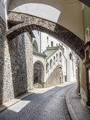Narrow street Passau — Stock Photo