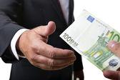 Businessman receives bill — Stock Photo