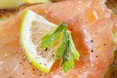 Salmon sandwiches — Stock Photo