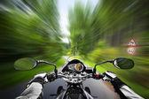 Motorcycle exessive speed — Stock Photo