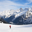 Skiing at French Alps — Stock Photo #13260859