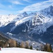 Skiing at French Alps — Stock Photo #13260862