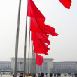 Red flags on Tiananmen Square — Stock Photo #13284609