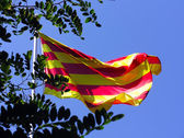 Senyera - Flag of Catalonia — Stock Photo
