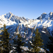 Chamonix Aiguilles lit by the Sun - Photo