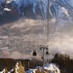 Ski Lift in French Alps — Stock Photo