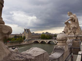 Pont Royal and Louvre — Stock Photo