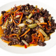 Sichuan Dry-fried Beef Shreds (Ganbian Niurousi) — Stock Photo