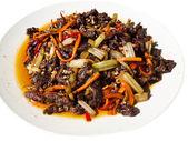 Sichuan Dry-fried Beef Shreds (Ganbian Niurousi) — Stock Photo