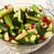 Chinese Sweet, Hot and Sour Cucumbers — Stock Photo