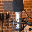 Stock Photo: Microphone in studio
