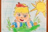Die kinder malen — Stockfoto