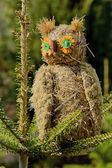 The owl made from grass — Stock Photo