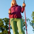 Stock Photo: Nordic walking in summer