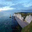 Famous Emerald cliffs near Etretat — Stock Photo
