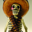 Traditional Mexican skeletal  men — Foto de Stock