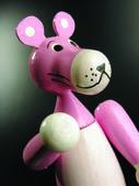 Pink panther sculpture — Stock Photo