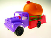 Colorful toy truck — Стоковое фото